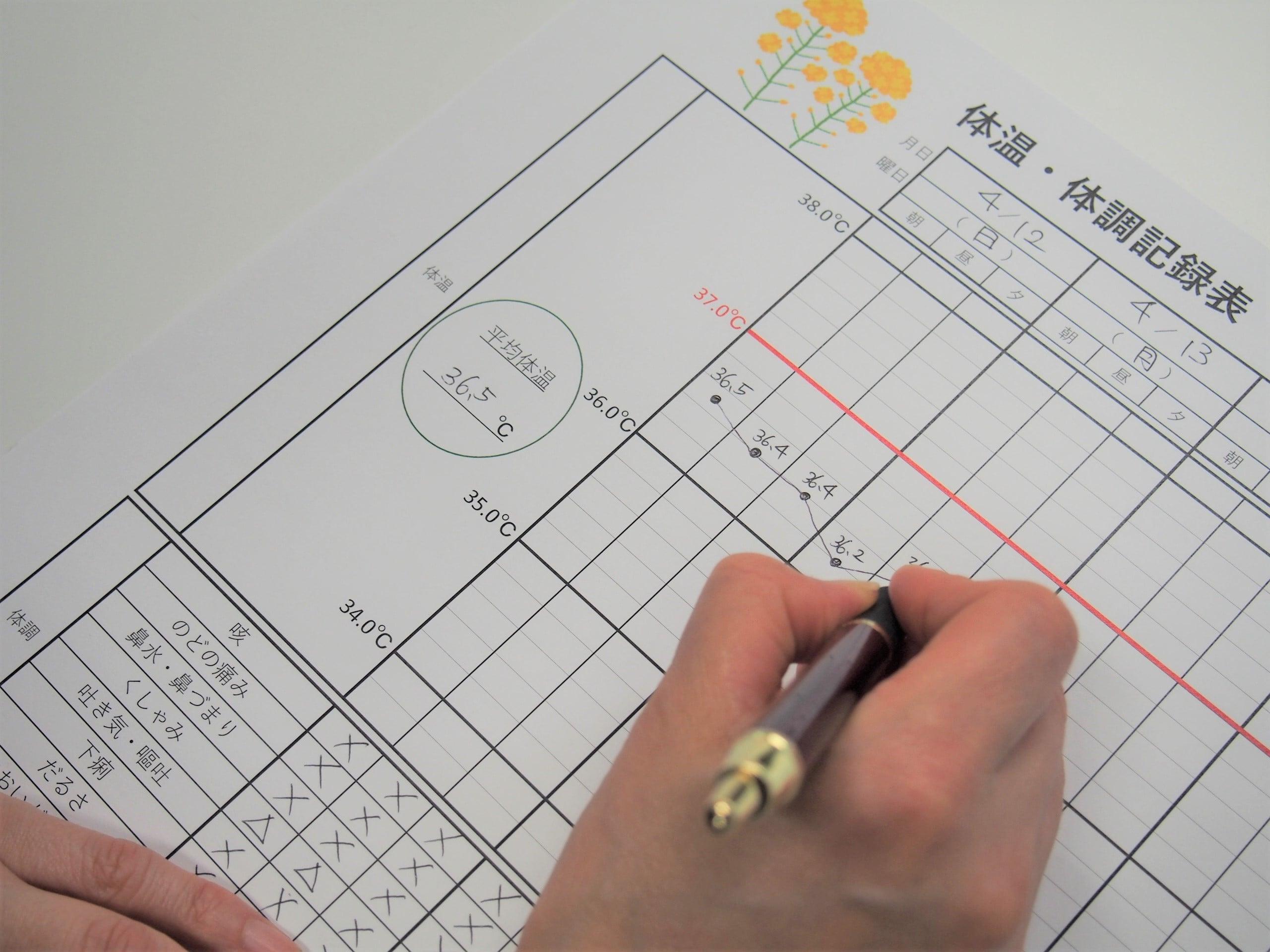 体温・体調記録表を作成しました|生活サービス|有料老人ホーム ...